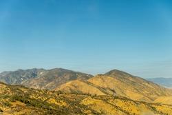 Golden hills in California, USA, November 2018