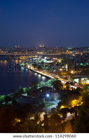 golden horn at istanbul turkey