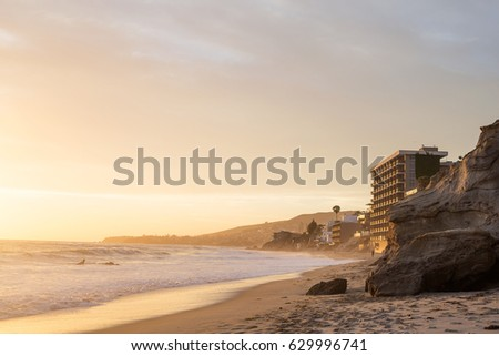 Stock Photo Golden hour at Laguna Beach, California