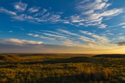 Golden hour at Pawnee National Grassland in Colorado.