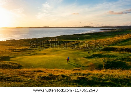 Golden Hour at Rosses Point - A beautiful sunset over the 17th hole   #1178652643