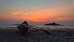 golden hour capture at majali beach,  karwar.