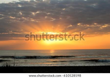 Golden hour sunrise #610528598
