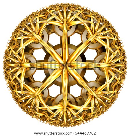 golden hyperbolic tessellation computer generated