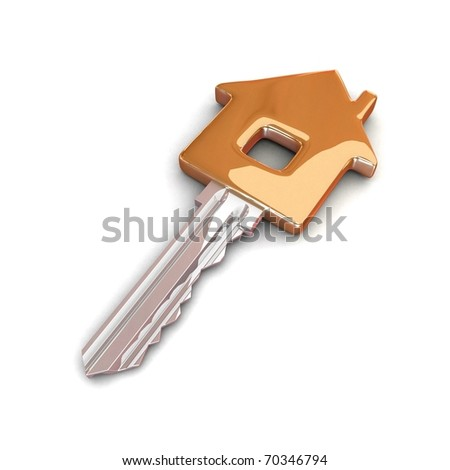 Golden key. 3d illustration