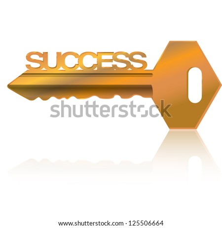 golden  Key to success illustration