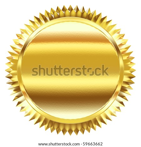 Golden label - stock photo