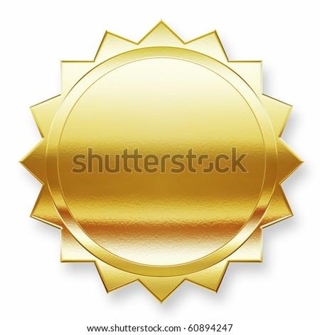 Golden label - stock photo
