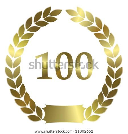 golden laurel wreath 100 years