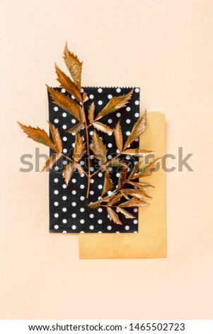 golden leaf design elements. Decoration elements for invitation, wedding cards, valentines day, greeting cards. #1465502723