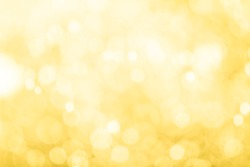 Golden light bokeh abstract background.