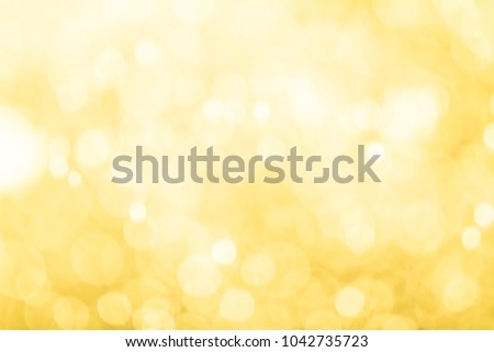 Golden light bokeh abstract background. #1042735723