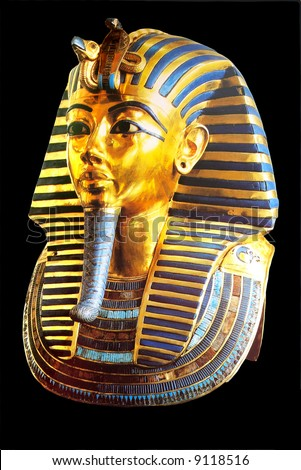 golden mask of egyptian pharaoh