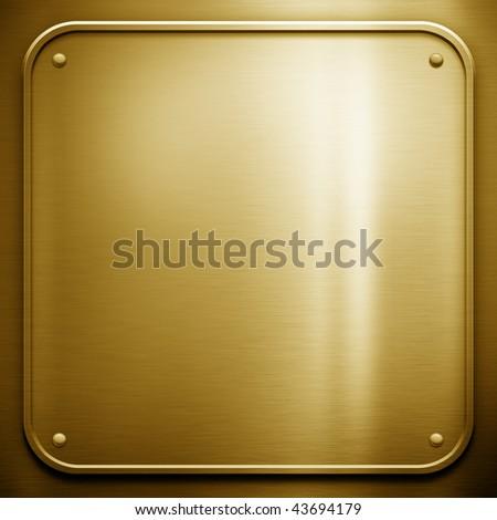 golden metal template