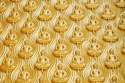 golden mini Buddha wallpaper statue