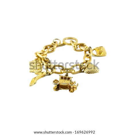 golden necklace chain jewelry on netural background