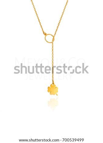 golden necklace clover #700539499