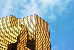 Golden office building