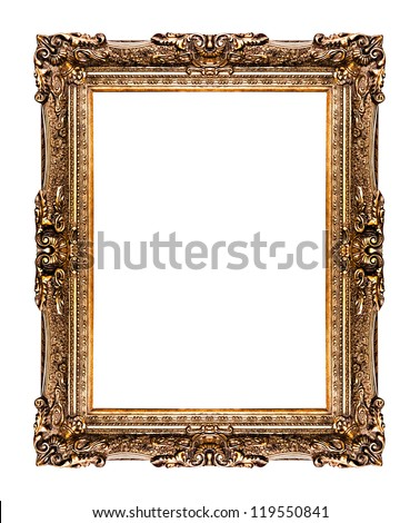 golden old frame isolated on white, No 26  (clipping paths included)