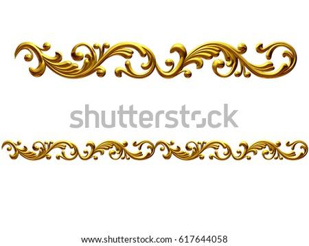 golden, ornamental segment,