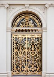 Golden ornate door