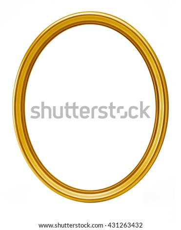 golden oval frame isolated #431263432