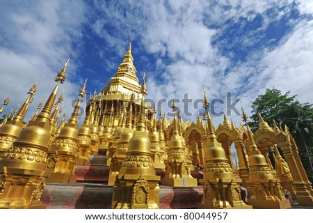 Golden pagoda,Thailand