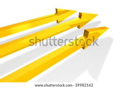Golden parallel arrows