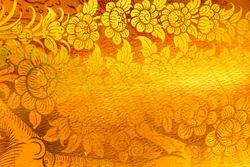 golden pattern Thailand background.