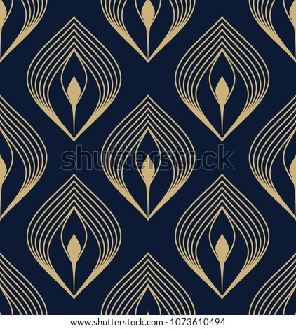 Golden peacock feather ditzy all over ogee motif. Ethnic bird plumage geometric design. Vintage interior textile, fabric cloth, phone case. Opulent indian paisley print block. Look the same 1324720520