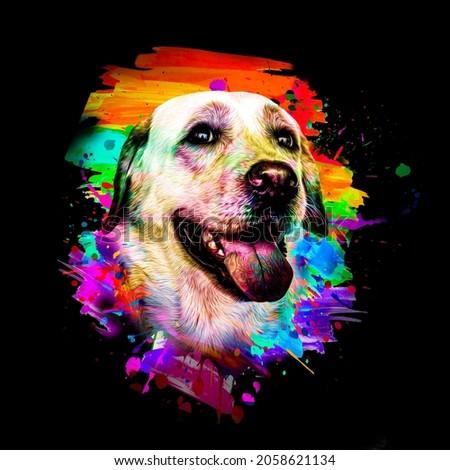 golden retriever dog with a bone