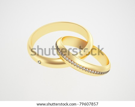 Golden Ring Image Golden Rings With Diamonds