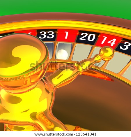 Golden roulette detail 3D rendering illustration. Photo - Realistic rendering.