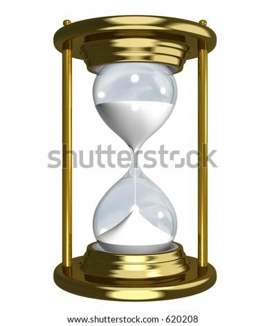 Golden sand-watch