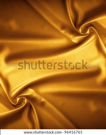 Golden satin texture, brocade