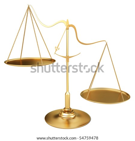 golden scales. with clipping path.