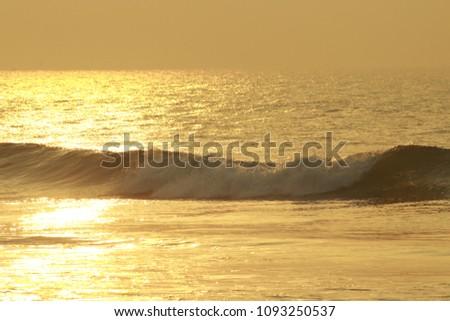 Golden Sea Waves #1093250537