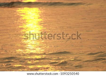 Golden Sea Waves #1093250540