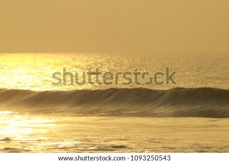 Golden Sea Waves #1093250543