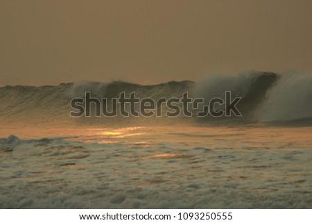 Golden Sea Waves #1093250555