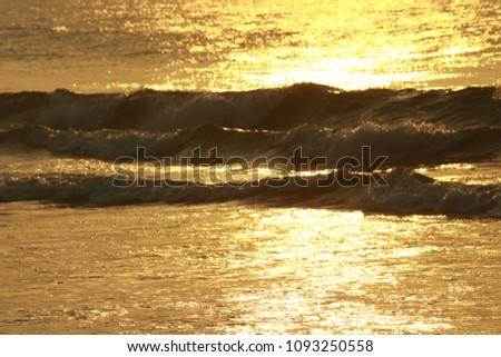 Golden Sea Waves #1093250558