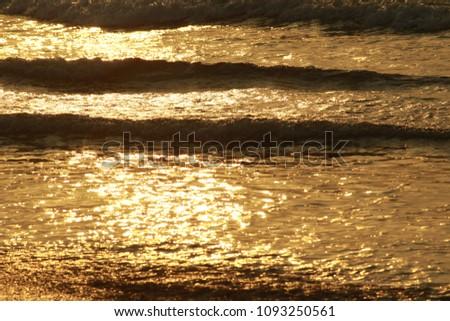 Golden Sea Waves #1093250561