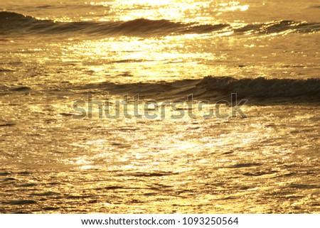 Golden Sea Waves #1093250564