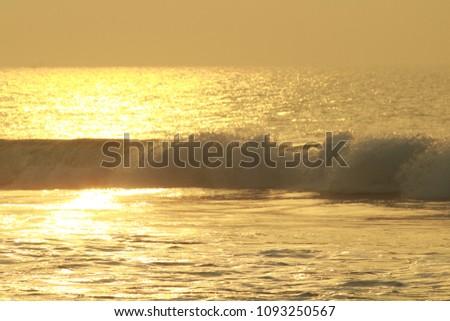 Golden Sea Waves #1093250567