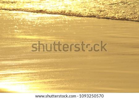 Golden Sea Waves #1093250570