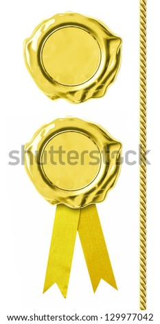 Golden seals set