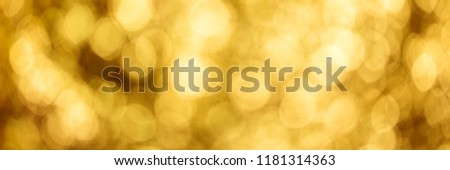 Golden shiny Banner for Silvester, Christmas or anniversary themes