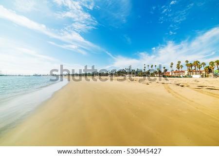 Golden shore in Santa Barbara, California