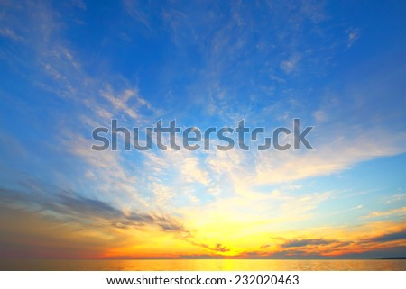 Golden sky of a decline - Shutterstock ID 232020463