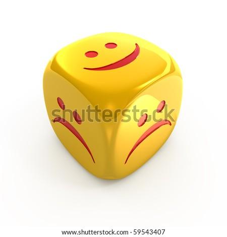 Golden Smiley dice